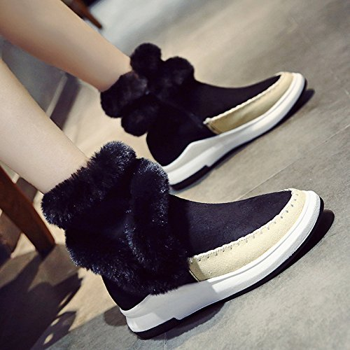SQIAO-X- Presidente e scarponi da neve spessa felpato caldo scarpe antiscivolo elegante e versatile stivali Grigio