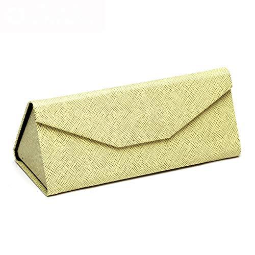 KLTTJ-Dreieck Falten Modische Sonnenbrille Box Männlich Einfache Tragbare Retro Sonnenbrille-Box Kreative Myopie Box D