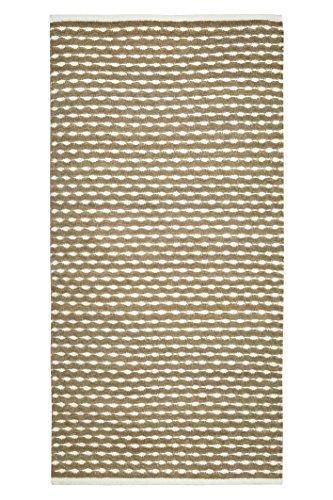 Jute & Co Samoa Tappeto Tessuto a Mano, Cotone, Nocciola, 70 x 150 cm