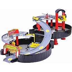 CrazySell Hot Wheel Moderno Aparcamiento Pista del neumático auto Aparcamiento Garaje Gasolinera Kids Play Set de juguetes