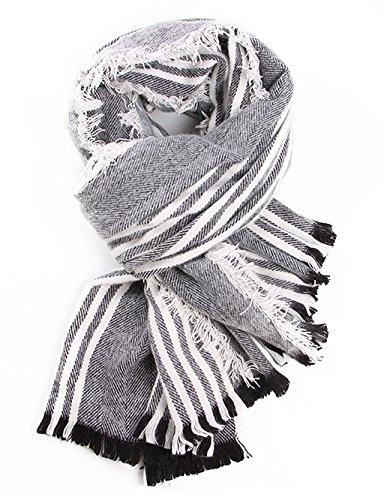 Écharpe à rayures épaisses (4 couleurs de la même taille, taille: longueur 190cm * 85cm) ( couleur : A )