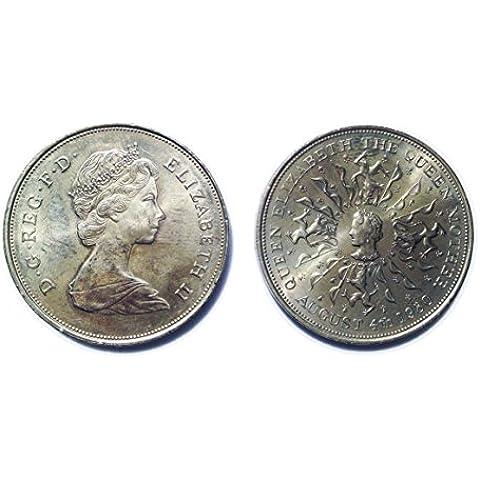 La recogida de moneda - El cumpleaños de la Reina Madre 80a moneda corona conmemorativa 04 de agosto