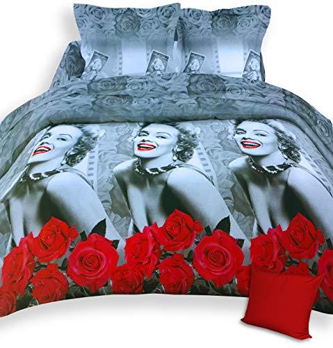 tex family Copripiumino Marilyn Monroe Matrimoniale 2 PIAZZE con Federa ARREDO