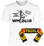 Fußball Fanshirt mit Fanschal, Fanartikel, Trikot - Germanys Next World Champion - 1954 1974 1990 2014 WM 2018