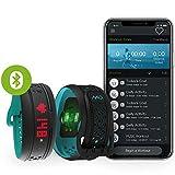 MIO Fuse Activity Tracker mit Schrittzähler- Pulsarmband mit Erfassung von Kalorienverbrauch und Distanz, Fitnessarmband mit Pulsmessung und App - 14,7 - 17,9 cm Handgelenkumfang - Aqua Blau