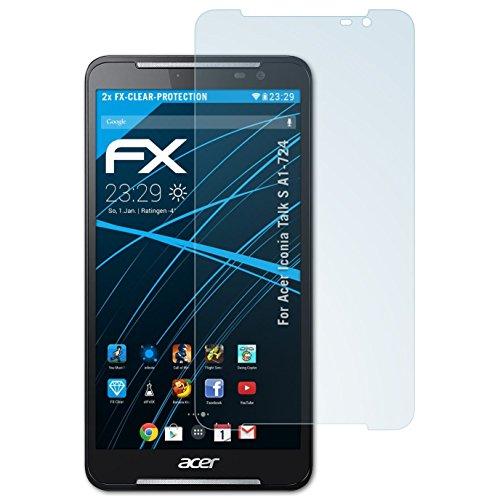 atFolix Schutzfolie kompatibel mit Acer Iconia Talk S A1-724 Folie, ultraklare FX Bildschirmschutzfolie (2X)