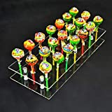 mengcore® 21 Loch Acryl Cake Pop Lollipop Transparent Display Ständer Server Dekoration Display Ständer, Regal