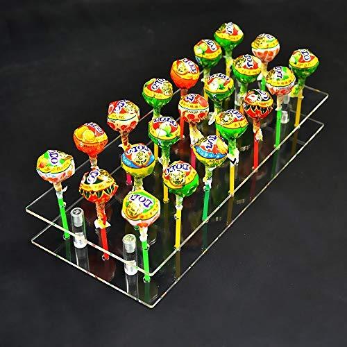 mengcore® 21Loch Acryl Cake Pop Lollipop Transparent Display Ständer Server Dekoration Display Ständer, Regal
