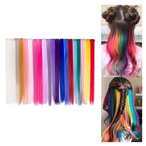 Extension Clip Capelli Colorati per Accessori Capelli Bambina 20 Pezzi 20 Colori 20 Beauty7
