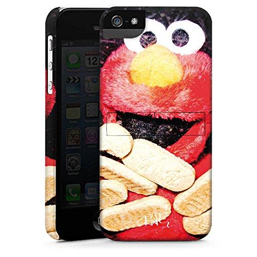 Apple iPhone 4 Housse Étui Silicone Coque Protection Oliver Rath Elmo Sesamstraße CasStandup blanc