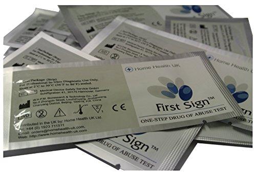kits de 5 tiras Individuales de test de droga Cannabis, Cocaina o Heroina con 3 opciones Multidroga (Cocaina / Crack / COC)