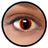 FXEYEZ Farbige Kontaktlinsen rot gelb