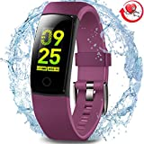 MorePro Waterproof Fitness Tracker, Color Screen Activity Tracker with Heart Rate Blood Pressure