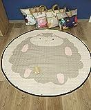 Baby Matt Kinderzimmer Groß Gepolstert Krabbeldecke Kinderteppich Speicher Tasche Kinder Aufräumsack 150 cm (Schaf)
