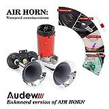 Audew Lufthorn Druckluft Horn Auto Horn mit Kompressor 120DB 12V für KFZ LKW Boot