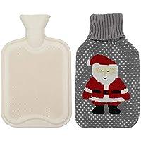 Autbye wärmflasche mit bezug, Klassischer Gummi-durchsichtiger heißer Wasser-Beutel, tragbare warme Wasserflasche... preisvergleich bei billige-tabletten.eu