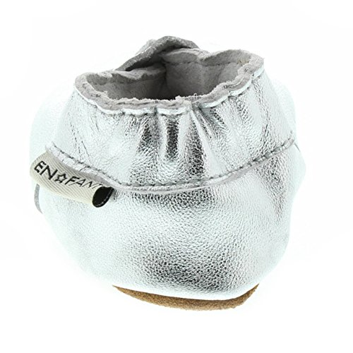 En-fant unisex bambini pantofole, pelle, 813115U Argento