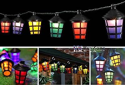 70 Multi -Coloured LED Christmas Lantern Outdoor Garden Lights