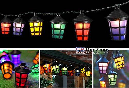 70 multi coloured led christmas lantern outdoor garden lights