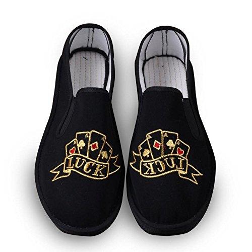 LvYuan Unisex chinesische traditionelle Tuchschuhe / beiläufige Retro Atmen Sie Stickereischuhe / Kung Fu Schuhe / Kampfkünste / Beleg-auf Schuhe 5#