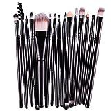 Vovotrade® 15 Stück / Set-Augen-Schatten-Augenbraue-Lippenpinsel Foundation Make-up Pinsel-Werkzeug(Schwarz)