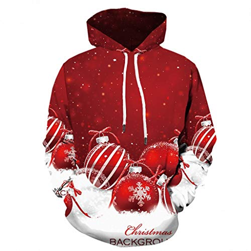 Zarupeng Sudaderas Navidad Capucha Hombre Jersey Navideño