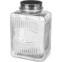 Kaffeedose Vorratsglas Vorratsgläser COFFEE Glas Dose Vorratsgefäß mit Deckel Aufbewahrungsglas (1x)