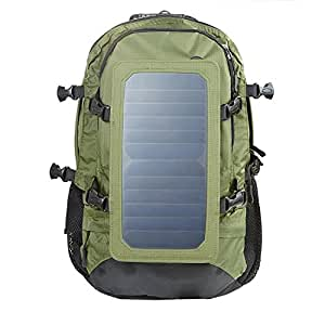 koolertron solar power rucksack canvas sporttasche solar rucksack 15 laptop rucksack mit 6 5w. Black Bedroom Furniture Sets. Home Design Ideas