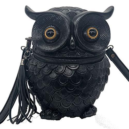 Frauen Umhängetasche PU Leder wasserdicht geprägt Eule Tier Wild Fashion Party Geburtstag Maskerade Handtasche Messenger Bag