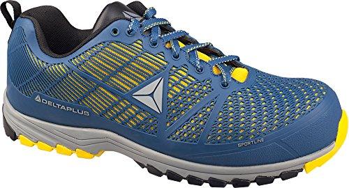 Delta Plus DSPORSPBJ40 - Scarpe basse in poliuretano/mesh, S1P HRO SRC, confezione da 10, colore: blu/giallo