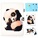 YKTO Tablet Hülle Universal 10 Zoll Anime Colorful Painted Case Schale für Alle 9.5-10.5 Zoll Tablet iPad Air 2/1, Samsung Galaxy Tab A/3/4/S3/E, Lenovo, Huawei MediaPad T3 10 Panda