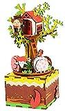 Wei Fei Boîte à musique rotative faite à la main Décoration DIY Boîte à musique...