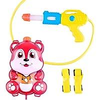 Newin Star - Pistola de Agua,Lanzador de Agua,con depósito Mochila -Diseño de Lindo Zorro para niños (Rojo)