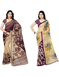 Kashvi Sarees Faux Georgette Multi Color Printed Combo Saree With Blouse Piece (1086_4_2942_2 )