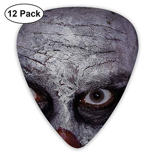 Custom Guitar Picks, Halloween Clown Creepy Scary Evil Killer Guitar Pick,Jewelry Gift For Guitar Lover,12 ()