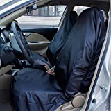 AUTO HIGH Coprisedili per Auto Impermeabile Set Nero, Universale, Nylon Resistente, Protezioni per Seggiolini Auto - 2 x Frontali