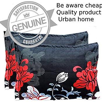 "Urban Home Designer Printed 2 Piece Cotton Pillow Cover Set - 17"" x 27"", Multicolour"