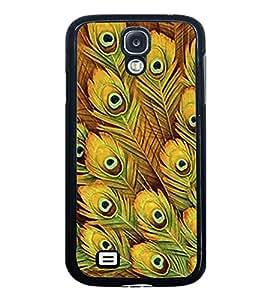 PrintVisa Designer Back Case Cover for Samsung Galaxy S4 I9500 :: Samsung I9500 Galaxy S4 :: Samsung I9505 Galaxy S4 :: Samsung Galaxy S4 Value Edition I9515 I9505G (Peacock Wallpaper Pattern Girly )