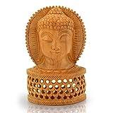 Little India religiöse Buddha-Statue aus geschnitztem Holz