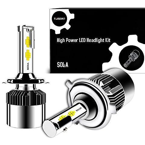 Projecteur a LED Super Bright 12000lm 64W Turbo 2x sol Kit de conversion avec jet réglable Motif Séoul Chips, CSP Tech, All-in-One ERROR FREE Design H4 9003 HB2 H/L