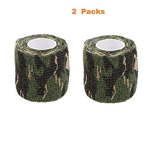 Lixada Tarnband selbsthaftend 5CMx4.5M Wiederverwendbare Wrap Camouflage für Jagd Camping Radfahren -