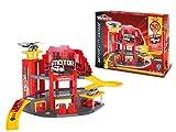 Smoby Majorette - 212055056 - Véhicule Miniature - Garage - Majorette Motor City + 1 Voiture Gold - 50 Ans