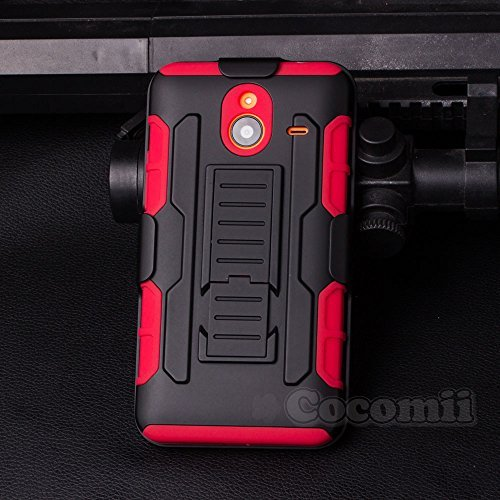 Nokia Lumia 640 XL Hülle, Cocomii Robot Armor NEW [Heavy Duty] Premium Belt Clip Holster Kickstand Shockproof Hard Bumper Shell [Military Defender] Full Body Dual Layer Rugged Cover Case Schutzhülle Nokia (Red)