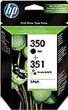 HP  350  Cartouche  d'Encre d'Origine Pack de 2  Noir Cyan Magenta Jaune 225276