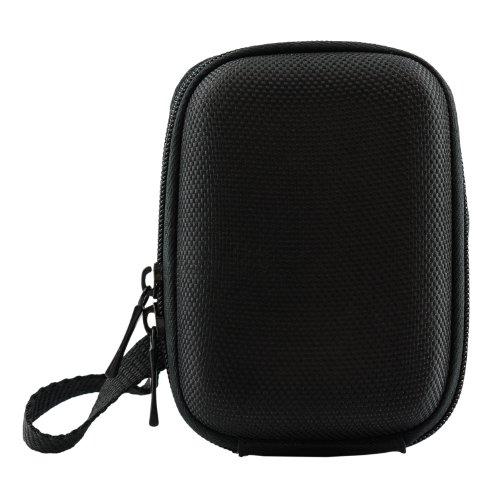 iProtect Universal Kamera Hülle Tasche extra stoßfest mit Schultergurt und Gürtelschlaufe in schwarz