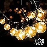 VIFLYKOO Lichterkette Außen,Lichterkette Glühbirnen G40 Wasserdichte Innen und Außen Beleuchtung mit 9.5 Meter 28 Garten Lichterketten Dekoration für Garten, Hochzeit,Grill, Weihnachten