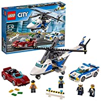 LEGO 60138 City Police High-speed Chase Playset, Helicopter Toy and Sports Car, Crook