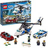 LEGO 60138 City Police High-speed Chase Playset, Helicopter Toy and Sports Car, Crook's Escape Set for Kids, Mixed