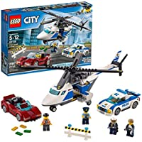 LEGO 60138 City Police High-speed Chase Playset, Helicopter Toy and Sports Car, Crook's Escape Set for Kids