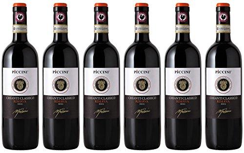 Chianti-wein-flasche (Piccini Chianti Classic Riserva DOCG Rotwein (6 x 0.75 l))
